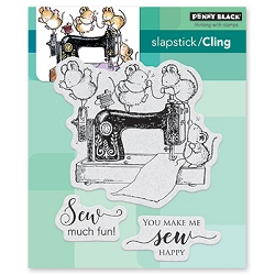 Penny Black - Slapstick Cling Stamp - Sew Much Fun