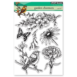 Penny Black - Clear Stamp - Garden Charmers
