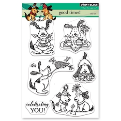 Penny Black - Clear Stamp - Good Times