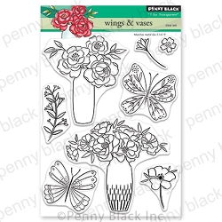Penny Black - Clear Stamp - Wings & Vases