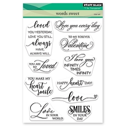 Penny Black - Clear Stamp - Words Sweet
