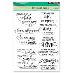Penny Black - Clear Stamp - Love Sentiments