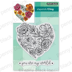 Penny Black - Slapstick Cling Stamp - Passionate Blooms