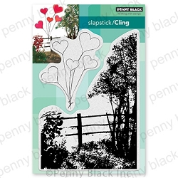 Penny Black - Slapstick Cling Stamp - Beloved View