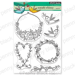 Penny Black - Clear Stamp - Wreath Whimsy