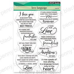 Penny Black - Clear Stamp - Love Language