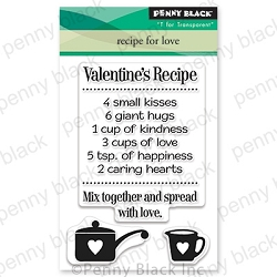 Penny Black - Clear Stamp - Recipe for Love