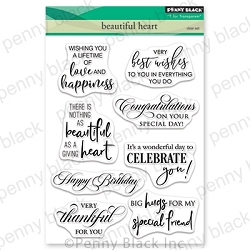 Penny Black - Clear Stamp - Beautiful Heart