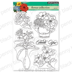 Penny Black - Clear Stamp - Flower Collection
