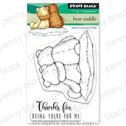 Penny Black - Clear Stamp - Bear Cuddle