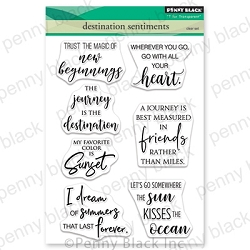 Penny Black - Clear Stamp - Destination Sentiments