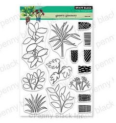 Penny Black - Clear Stamp - Groovy Greenery
