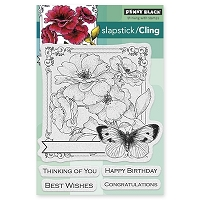Penny Black - Slapstick Cling Stamp - Collage of Wishes