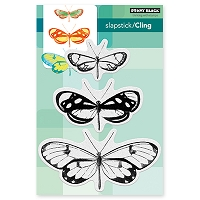 Penny Black - Slapstick Cling Stamp - Butterfly Trio