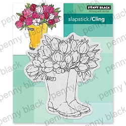 Penny Black - Slapstick Cling Stamp - Blooming Boots