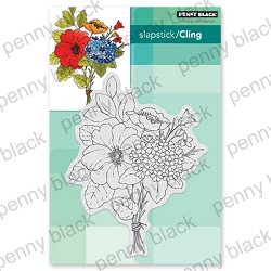 Penny Black - Slapstick Cling Stamp - Bouquet Ballet