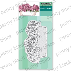 Penny Black - Slapstick Cling Stamp - Rose Garden