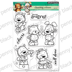 Penny Black - Clear Stamp - Cheering Critters