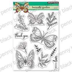 Penny Black - Clear Stamp - Butterfly Garden