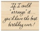 Penny Black - Wood Mounted Rubber Stamps - Best Birthday