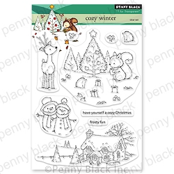 Penny Black - Clear Stamp - Cozy Winter