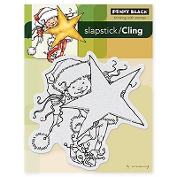 Penny Black - Slapsticks Cling Mounted Stamp - Little Elf Kit