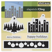 Penny Black - Slapsticks Cling Mounted Stamp - City Lights