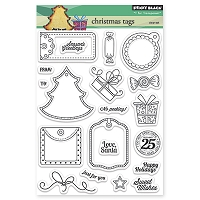 Penny Black - Clear Stamp - Christmas Tags