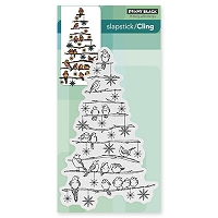 Penny Black - Slapstick Cling Stamp - Tree Chrip