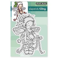 Penny Black - Slapstick Cling Stamp - Garland Pixie