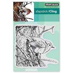 Penny Black - Slapstick Cling Stamp - Feathers & Twigs
