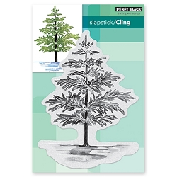 Penny Black - Slapstick Cling Stamp - Christmas Foliage