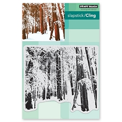 Penny Black - Slapstick Cling Stamp - Snow Forest
