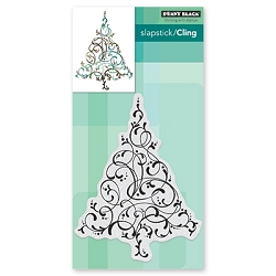 Penny Black - Slapstick Cling Stamp - Flourishing Tree