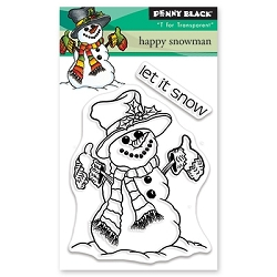 Penny Black - Clear Stamp - Happy Snowman