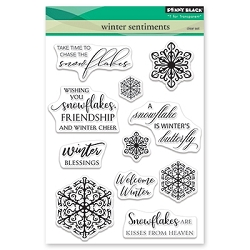 Penny Black - Clear Stamp - Winter Sentiments