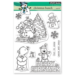 Penny Black - Clear Stamp - Christmas Bunch
