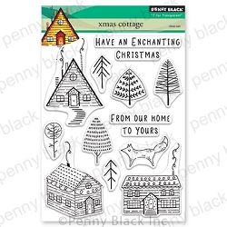 Penny Black - Clear Stamp - Xmas Cottage