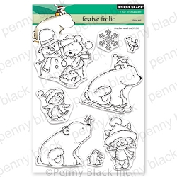 Penny Black - Clear Stamp - Festive Frolic
