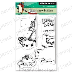 Penny Black - Clear Stamp - Snow Builders