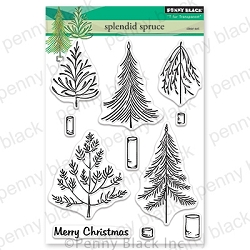 Penny Black - Clear Stamp - Splendid Spruce