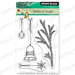 Penny Black - Clear Stamp - Baubles & Boughs
