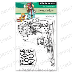 Penny Black - Clear Stamp - Sweet Sledder
