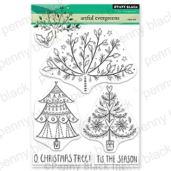 Penny Black - Clear Stamp - Artful Evergreens