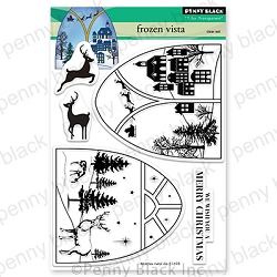 Penny Black - Clear Stamp - Frozen Vista