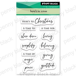 Penny Black - Clear Stamp - Here's to Xmas
