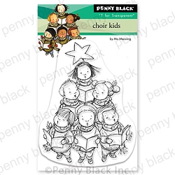 Penny Black - Clear Stamp - Choir Kids