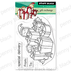 Penny Black - Clear Stamp - Gift Exchange