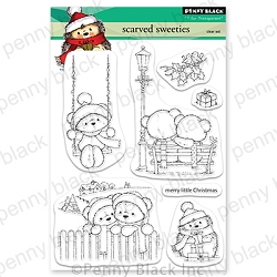 Penny Black - Clear Stamp - Scarved Sweeties