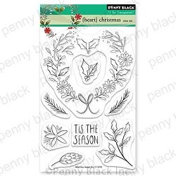 Penny Black - Clear Stamp - {heart} Christmas